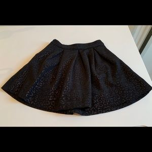 Imoga skirt Black/gold embroidered pattern 3T